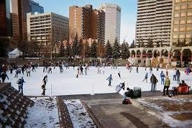 Skating at Olympic Plaza