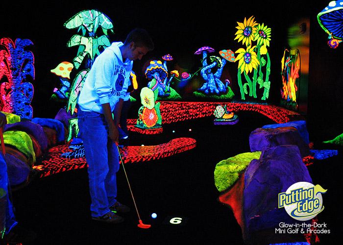 Glow-in-the Dark Mini Golf