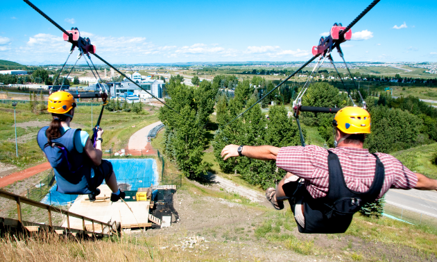 Zipline at WinSport