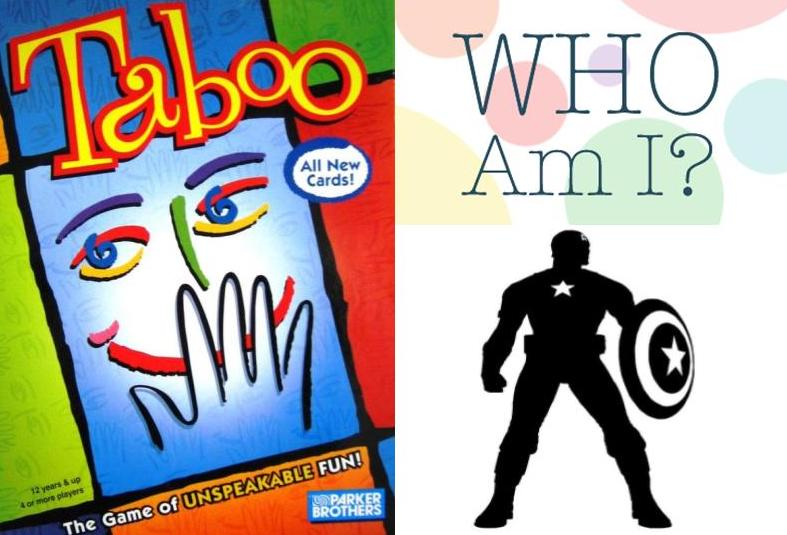 Taboo & Who Am I Games