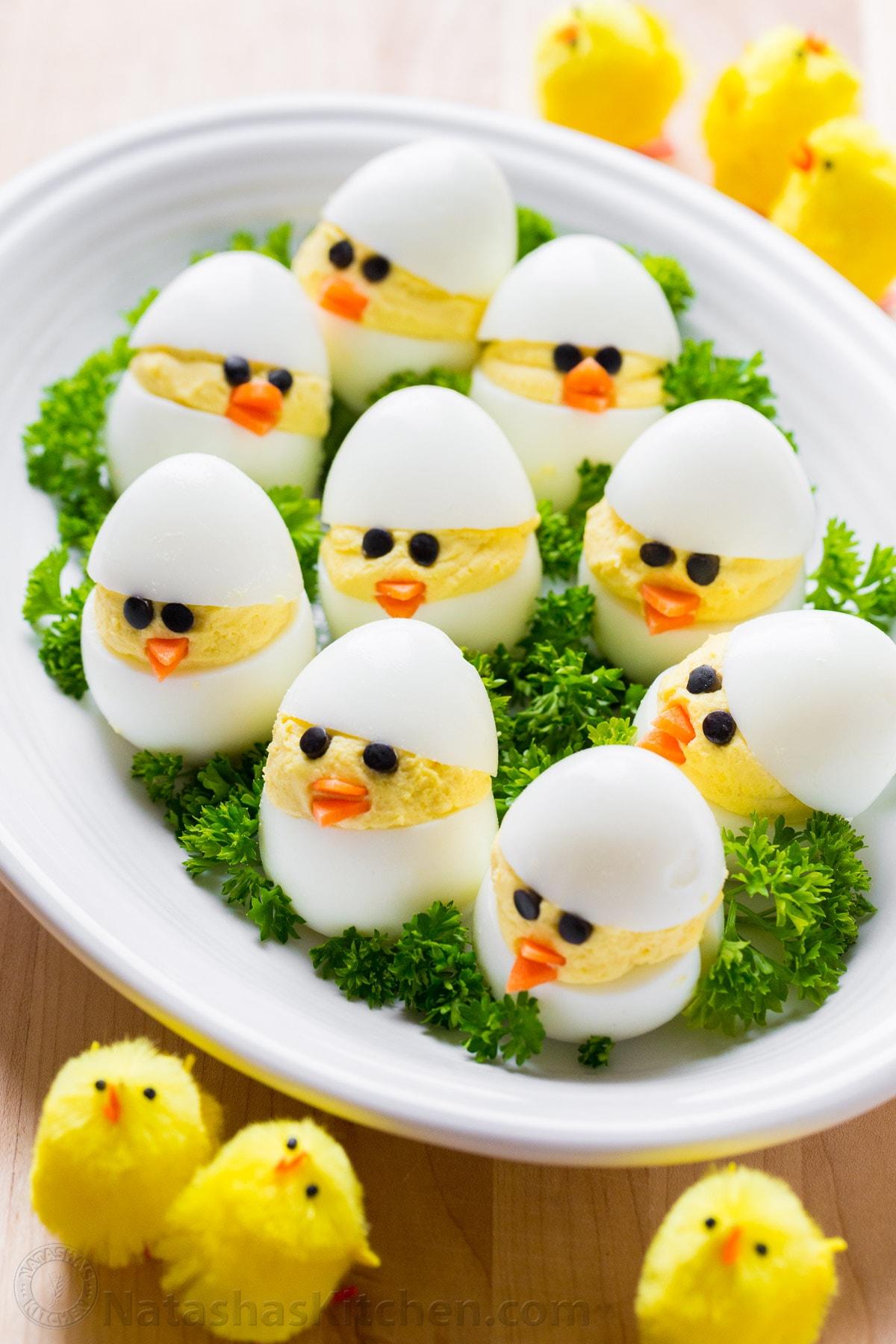 Easter Egg Recipe: Deviled Egg Chicks